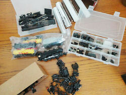 5 Pc. Ho Scale Shell Locomotive, 2 Tankers And Caboose, Misc. Track, Wheels, Etc.