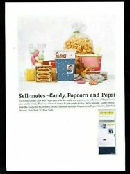 1960 Pepsi Cola Movie Theater Concession Cup And Machine Photo Vintage Trade Ad