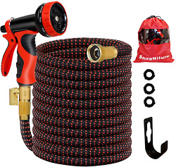 Expandable Garden Water Hose 50ft Lightweight 3/4 Solid Connectors 10 Functions