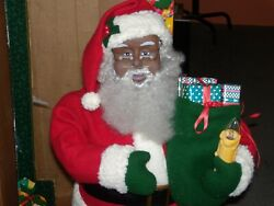 Holiday Creations African American Animated/ Lighted Santa Claus 25