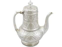 Victorian Sterling Silver Coffee Pot By John Hunt And Robert Roskell