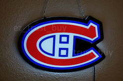New Montreal Canadiens Beer Led 2d Neon Sign 17 Light Lamp Bar Vivid Bright