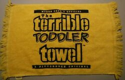 Rare Vintage Pittsburgh Steelers Fringed The Toddler Terrible Towel Great Shape