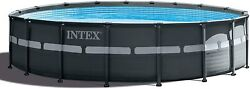 Intex 18'x52 Ultra Xtr Pool W Filter Pump, Ladder, Ground Cloth And Cover 2632eh