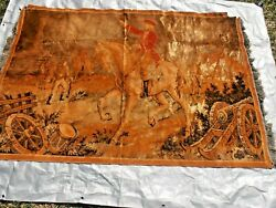 HUGE Antique Tapestry wall hanging Revolutionary War 76quot; x 50quot;