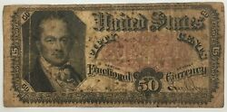 1875 Us 50 Cents Fractional Currency Note 5th Issue Allison/spinner