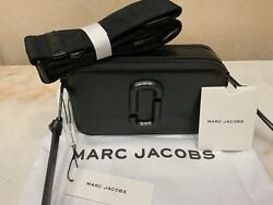 Marc Jacobs Snapshot Small Camera Bag Crossbody Black Leather 100% Genuine NEW $245.00