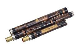 Chinese Vertical 3 Sections Professional Bamboo Flute Xiao Music Instrument