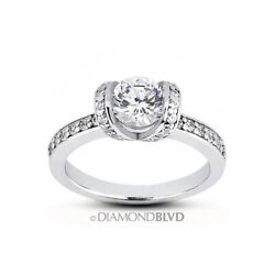 1.26 Ct G Vs2 Round Natural Certified Diamonds 18k Gold Classic Engagement Ring
