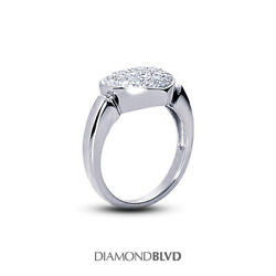 0.68ct Total F/vs2 Round Cut Natural Certified Diamonds 18k Gold Women's Ring