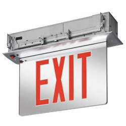 Lithonia Lighting Edgrny 1 R M4 Edge-lit Exit Sign,3.0w,red,13-1/4 In. H