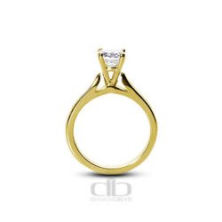 0.55ct F Vs2 Round Natural Certified Diamond 18k Gold Solitaire Engagement Ring