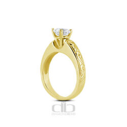 1.03ct E Si2 Round Natural Diamond 14k Gold Vintage Solitaire Engagement Ring