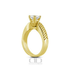 0.63ct K/vs1 Round Natural Diamond 18k Gold Vintage Solitaire Engagement Ring