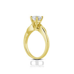 0.75ct G Si1 Round Natural Diamond 18k Gold Vintage Solitaire Engagement Ring