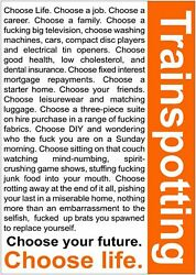 330171 Choose Life Quote Trainspotting Movie Print Poster Ca