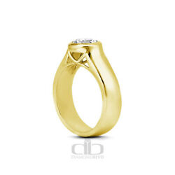 0.52ct F Vs2 Round Natural Diamond 18k Gold Halo Solitaire Engagement Ring