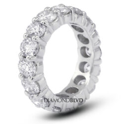 1 1/2ct Tw F Vs2 Round Natural Certified Diamonds 14k Gold Classic Eternity Band