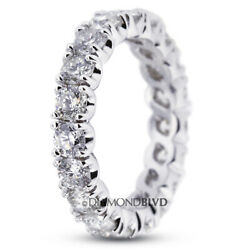 1 1/2ct Tw F Vs2 Round Natural Certified Diamonds 18k Gold Classic Eternity Band