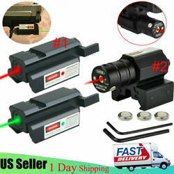 Usa Green/red Dot Laser Sight Low Profile For 20mm Picatinny Rail Rifle Handgun