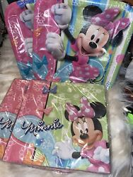 Minnie Mouse Bow-tuque Party Supplies Bundle W 16 Plates And 32 Napkins 106