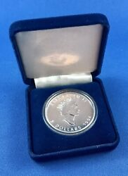 1994 Canadian 5 Maple Leaf Silver Coin 1oz .9999 Pure Uncirculated Velvet Case