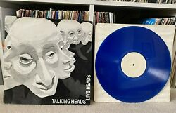 The Talking Heads David Byrne - Live Heads 12 Blue Colored Vinyl Record Rare