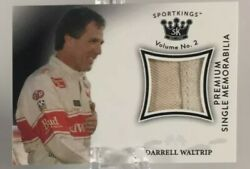 2021 Sportkings Darrell Waltrip Premium Race Firesuit With Autographed Card