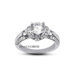 2.05 Ct G Si1 Round Natural Diamonds 18k Gold Vintage Style Engagement Ring