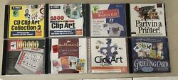 Lot Of 17 Clipart/font/calendar/greeting Card Software Cd Rom Free Shipping