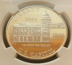 2001p Capital Commemorative Silver Dollar Certified Pf69 Ultra Cameo By Ngc