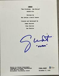George Wendt Signed Autograph Cheers Classic Full Episode Script Beckett Coa B
