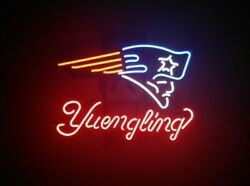New England Patriots Yuengling Beer B Light Lamp Neon Sign 24x20