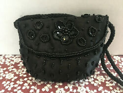 Simply Style Black Mini Embriodered Crossbody Woman#x27;s Purse 3X4quot; $16.75