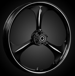 """21 X 3.5"""" Front Amp Black Cut Front Wheel Rotors Tire - Harley Touring Bagger"""