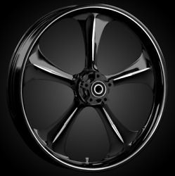 """21 X 3.5"""" Front Adrenaline Black Cut Front Wheel Rotors Tire - Harley Touring"""