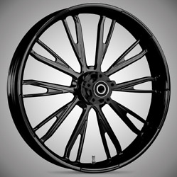 """Resistor Blackline 21x 3.5"""" Front And Rear Wheels - 2000-20 Harley Touring Bagger"""