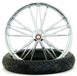 Execute Chrome 23 X 3.75 Front Wheel And Tire - 2000-2020 Harley Touring Softail