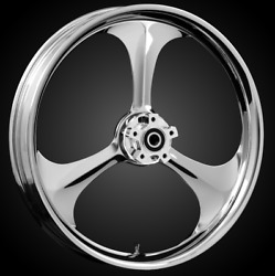 """21 X 3.5"""" Front Amp Chrome Front Wheel Rotors Tire 2000-up Harley Touring"""