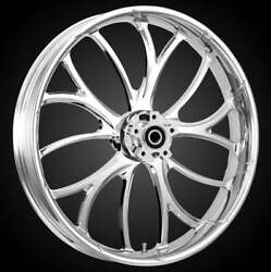 """21 X 3.5"""" Front Electron Chrome Front Wheel Rotors Tire 2000-up Harley Touring"""