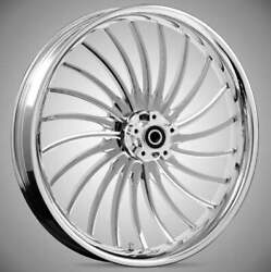 """21 X 3.5"""" Front Volt Chrome Front Wheel Rotors Tire 2000-up Harley Touring"""