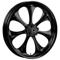 """23 X 3.75"""" Atomic Blackline Front And Rear Wheels - 2000-up Harley Touring"""