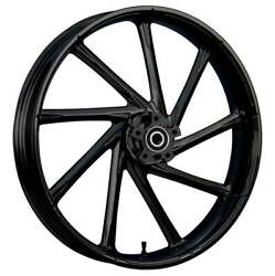 """23 X 3.75"""" Kinetic Blackline Front And Rear Wheels - 2000-up Harley Touring"""