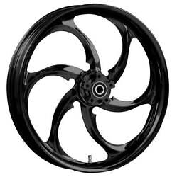 """23 X 3.75"""" Reactor Blackline Front And Rear Wheels - 2000-up Harley Touring"""