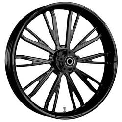 """23 X 3.75"""" Resistor Blackline Front And Rear Wheels - 2000-up Harley Touring"""