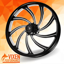 26 X 3.75 Sly Contrast Wheel And Front Tire - Black - 2000-2020 Harley Touring