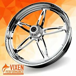 26 X 3.75 Vibrance Wheel And Front Tire - Chrome - 00-19 Harley Touring