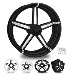 Formula Contrast Cut Platinum 23 Front Wheel And Tire Package 00-07 Bagger