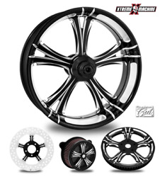 Fierce Contrast Cut 23 Front Wheel And Tire Package 08-19 Bagger Fiebl233fwt08bag