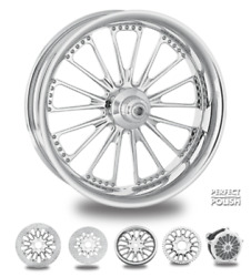 Domino Polish 18 Fat Front Wheel Tire Package Single Disk 00-07 Bagger